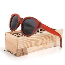 BOBO BIRD Red Wood Sunglasses Women Brand Designer Fashion Sun Glasses Cat eye Handmade Polarized UV400 Protection-Free Shipping