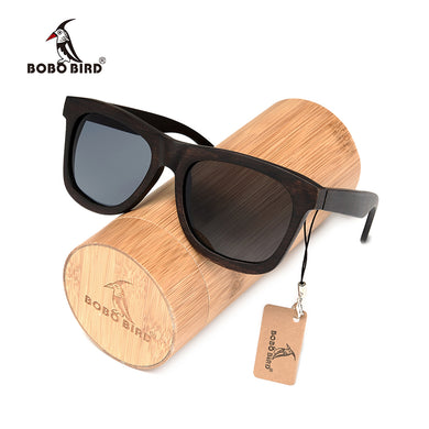 BOBO BIRD Ebony Wooden Sunglasses Men's Luxury Brand Designer Polarized Sun Glasses Vintage sunglass women-Free Shipping