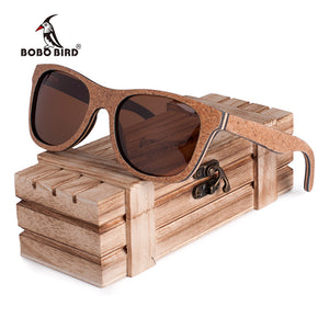 BOBO BIRD Wood Sunglasses Men Women Unique Design Retro Luxury Polarized Lens Sun Glasses with Memorial Gift for Steampunk-Free Shipping