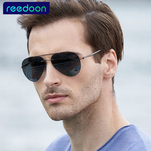 Highest quality Men's Ultralight Titanium frame Rimless Sunglasses Unisex memory frame Polarized Driving Sun Glasses-Free Shipping
