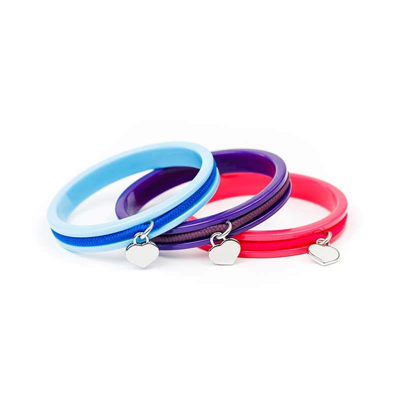 Busy Kids Bangles - 3 Pack - Blue, Purple, Pink