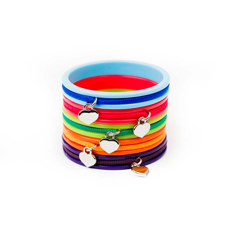 Busy Kids Bangles - 5 Pack - Blue, Pink, Green, Orange, Purple