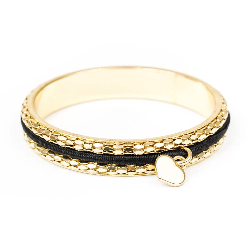Busy Girl Bangle with 2 Extra Hair Ties – Gold