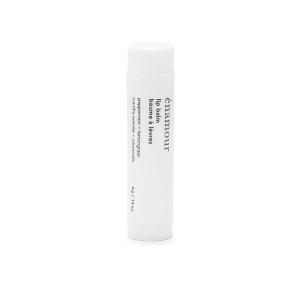 lip balm<br>peppermint + lemongrass
