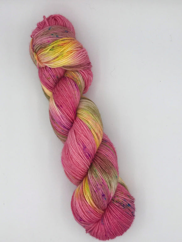 OOAK Pink/Yellow Lush Sock