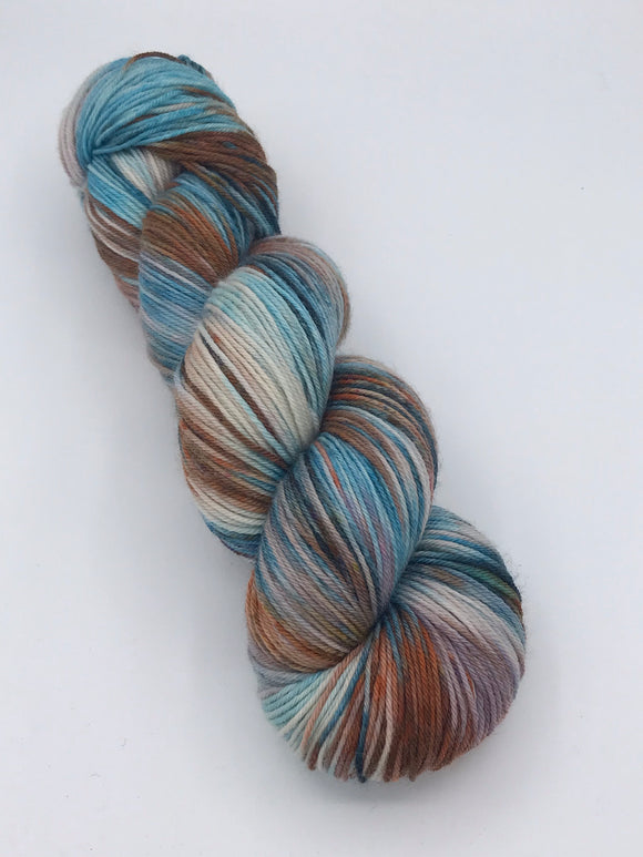 OOAK Orange/Blue Lurid Sock