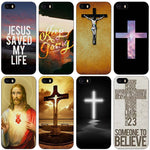 Christian Jesus The Cross Black Plastic Case Cover Shell for iPhone Apple 4 4s 5 5s SE 5c 6 6s 7 Plus