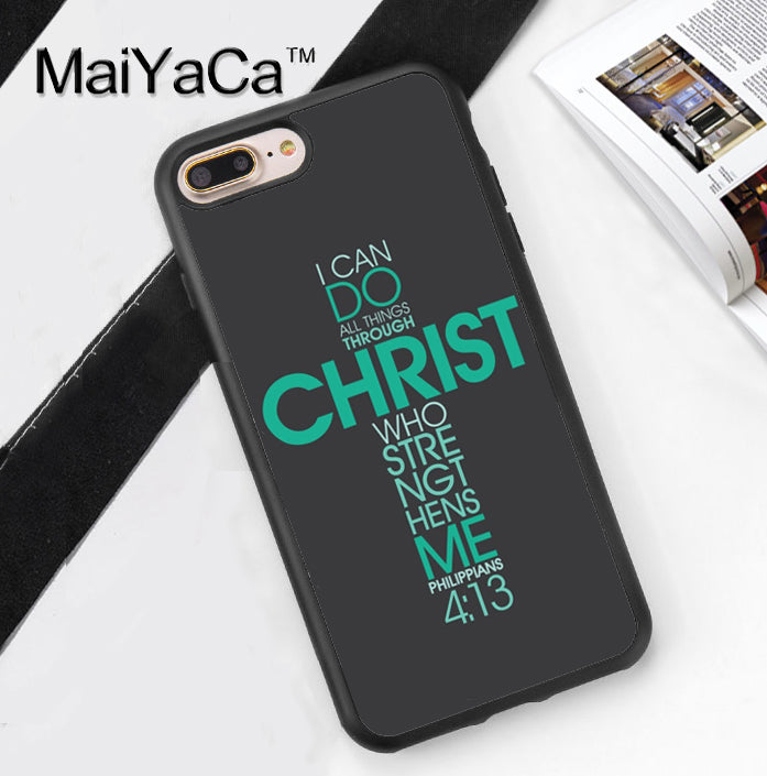 Christian Phone Case Cover For iPhone 7 7Plus 6 6S Plus 5 5S 5C SE 4 4S