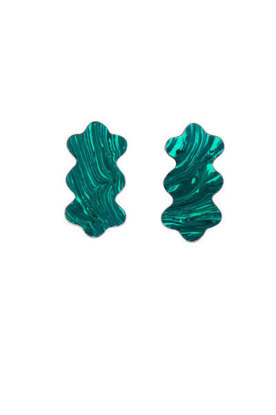 LAVA EARRINGS - MALACHITE