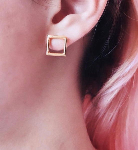 Mini Square Earring