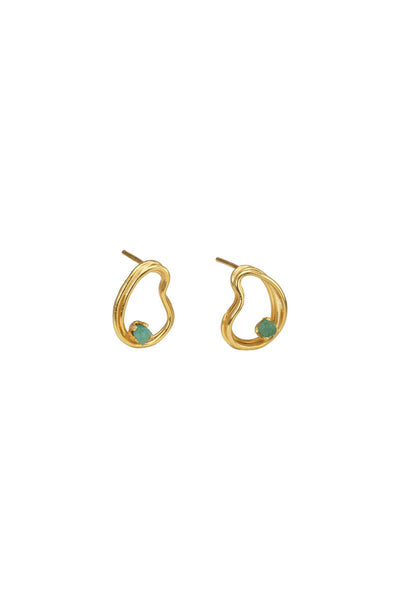 Providencia Mini Earrings with Emerald