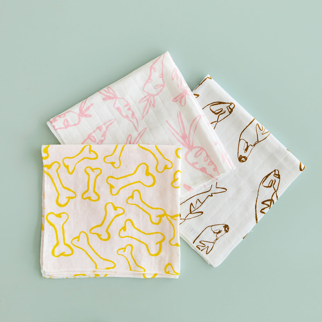 LIL ANIMALS Swaddle Set