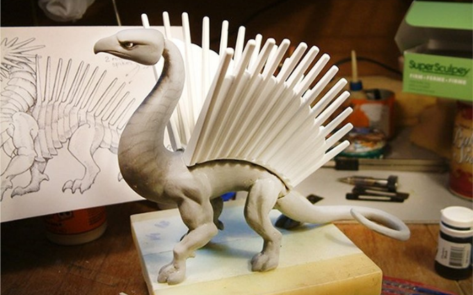 Hand Sculpting and Painting Dragon Toys