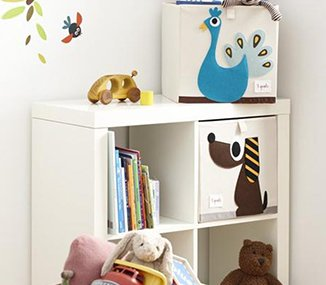 Bookcase in a child's room