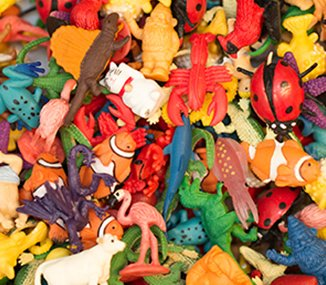 Pile of Good Luck Mini toys