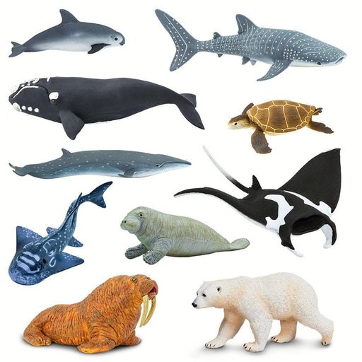 Endangered Sea Life - Set of 10 Toys