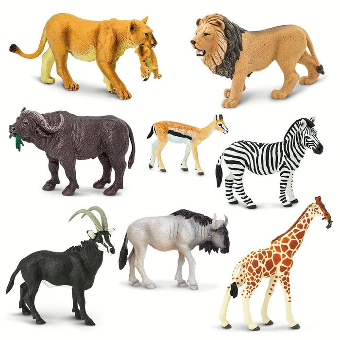 African Predators & Prey - Set of 8 Toys