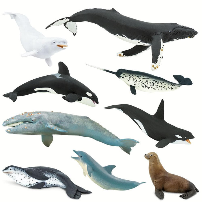 Ocean Predators and Prey II - Set of 9 Toys