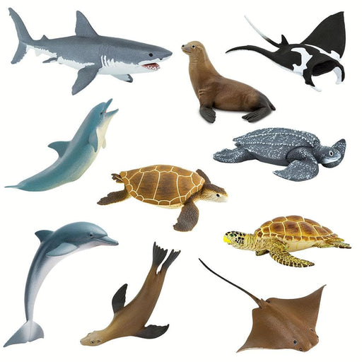 Ocean Predators and Prey I - Set of 10 Toys