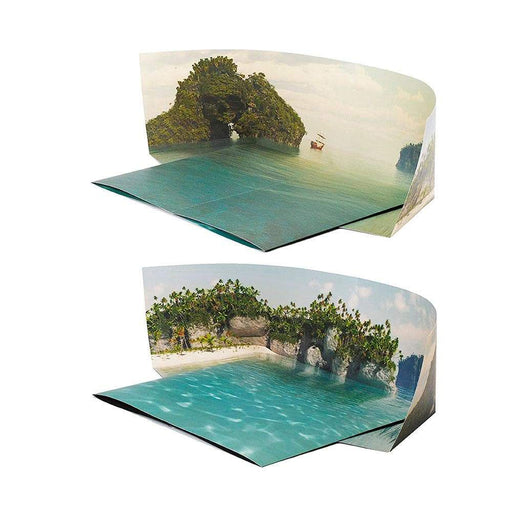 Beach/Island Two-Sided Foldable - Bakku Background - Safari Ltd®