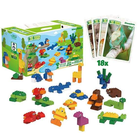 BiOBUDDi Animals Education Block Set - 240 Pcs - Safari Ltd®