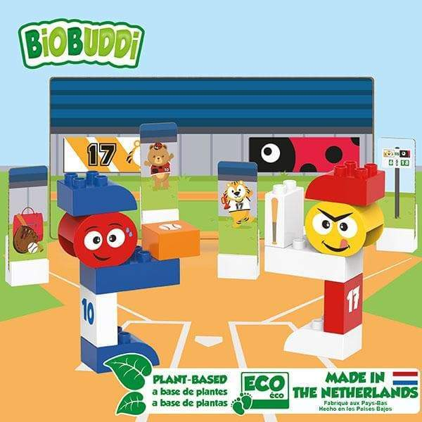 BiOBUDDi Baseball Building Blocks - 27 Pc Set - Safari Ltd®