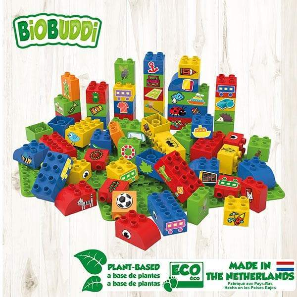 BiOBUDDi Educational Blocks with 2 Baseplates – Set 1 - Safari Ltd®