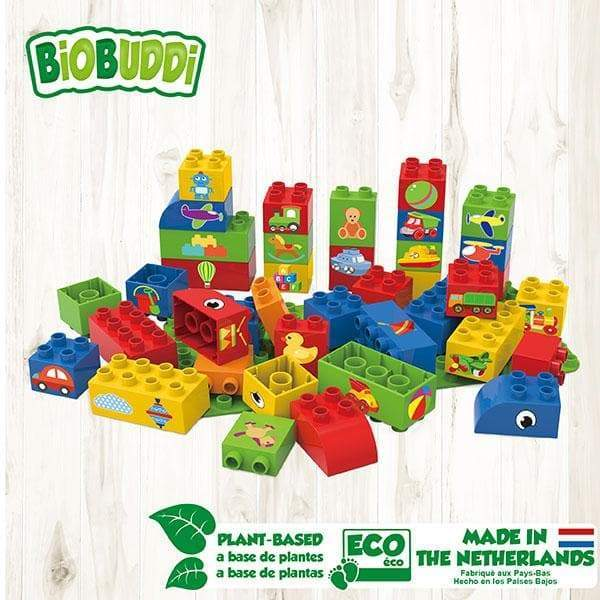 BiOBUDDi Educational Blocks with Baseplate – Set 1 - Safari Ltd®