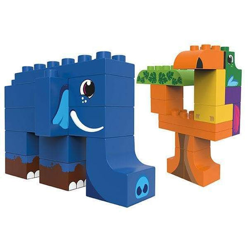 BiOBUDDi Elephant & Toucan Jungle Block Set - 27 Pcs - Safari Ltd®