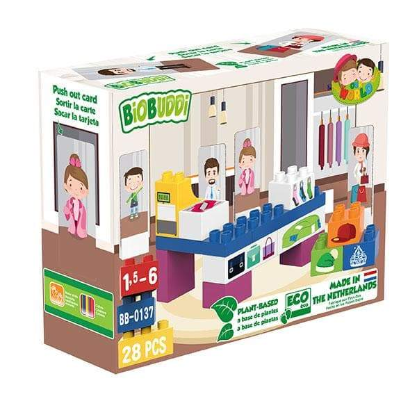 BiOBUDDi Fashion Store Building Block Set - 28 Pcs - Safari Ltd®
