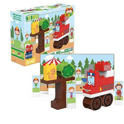 BiOBUDDi Fire Truck Block Set - 29 Pcs - Safari Ltd®