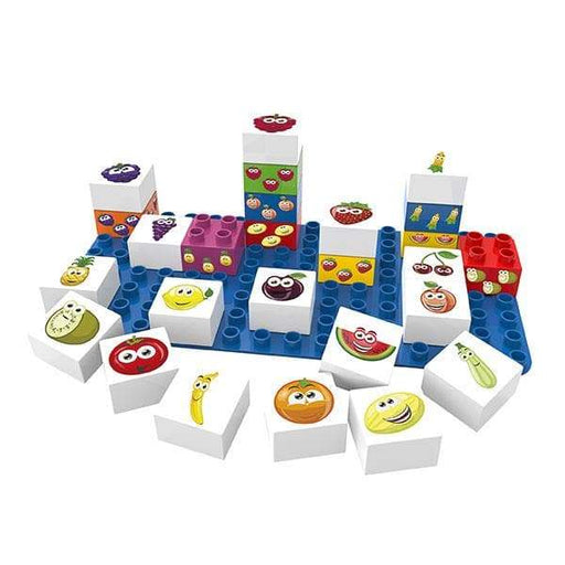 BiOBUDDi Fruit Learning Blocks - 27 Pc Building Block Set - Safari Ltd®