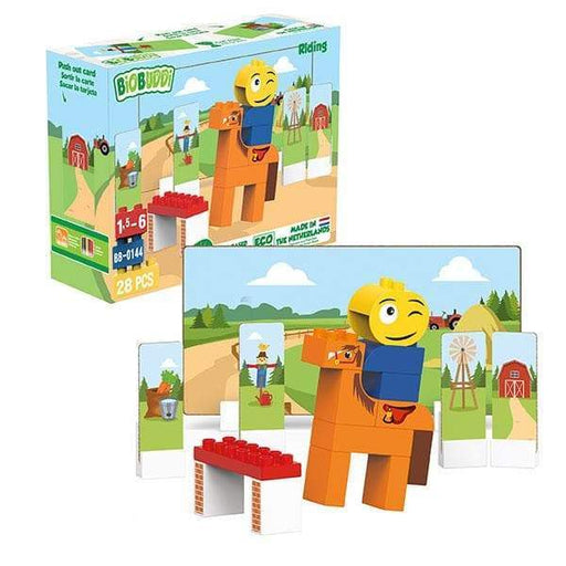 BiOBUDDi Horse Riding Building Blocks - 28 Pc Set - Safari Ltd®