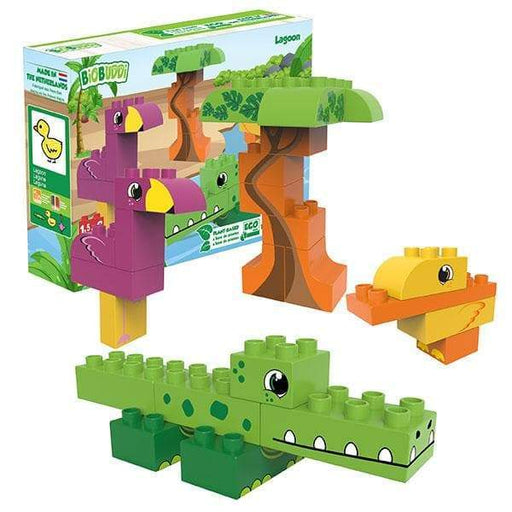 BiOBUDDi Lagoon Building Block Set - 25 Pcs - Safari Ltd®