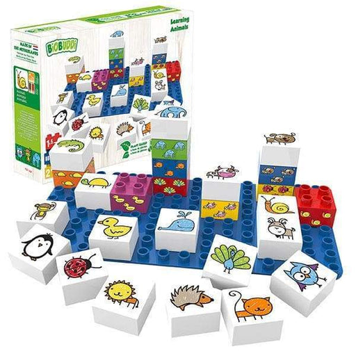 BiOBUDDi Learning Animals Building Block Set - 27 Pcs - Safari Ltd®