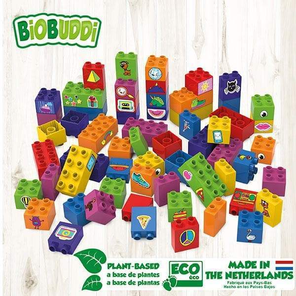 BiOBUDDi Learning to Build Set – 60 pcs - Safari Ltd®