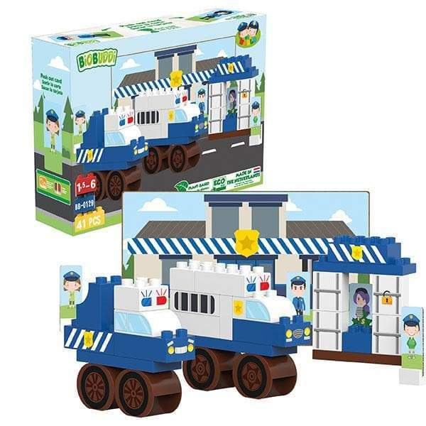 BiOBUDDi Police Station Block Set - 41 Pcs - Safari Ltd®