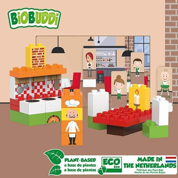 BiOBUDDi Restaurant Block Set - 40 Pcs - Safari Ltd®