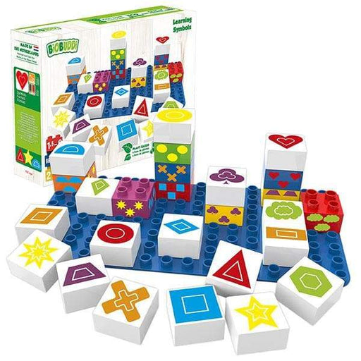 BiOBUDDi Shapes & Symbols Learning Block Set - 27 Pcs - Safari Ltd®