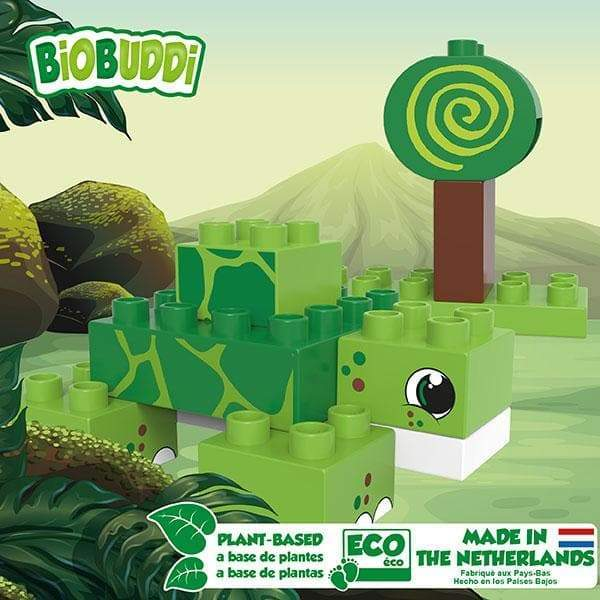 BiOBUDDi Turtle & Snail Swamp Block Set - 12 Pcs - Safari Ltd®