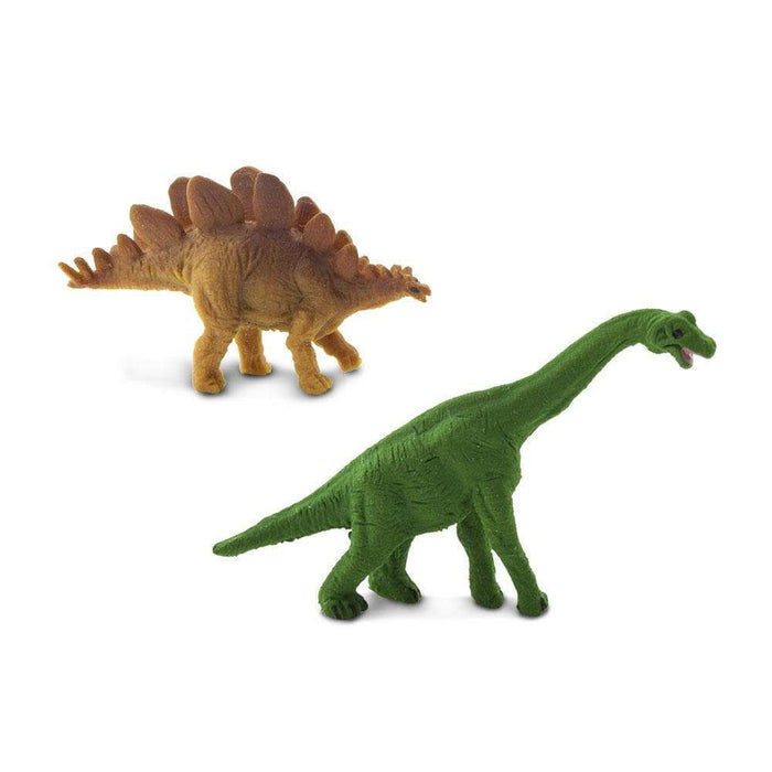 Brachiosaurus & Stegosaurus Good Luck Minis | Montessori Toys | Safari Ltd.