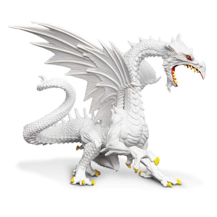 Glow-in-the-Dark Snow Dragon Toy | Dragon Toy Figurines | Safari Ltd.