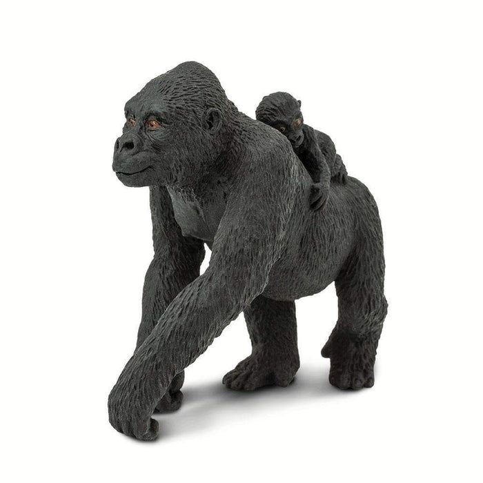 Lowland Gorilla with Baby Toy | Wildlife Animal Toys | Safari Ltd.