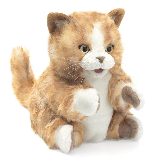 Orange Tabby Kitten Stuffed Animal Puppet - Safari Ltd®