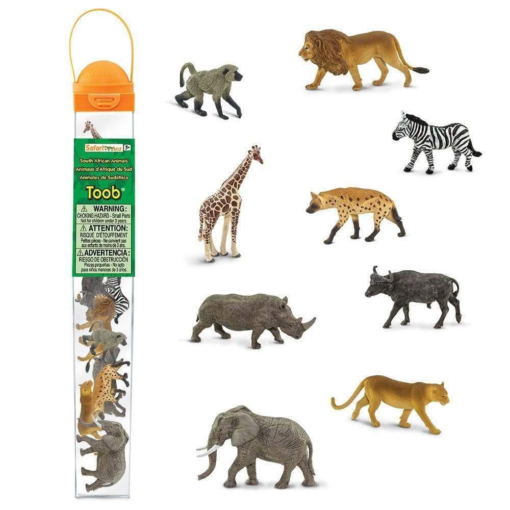 South African Animals TOOB® | Mini Animal Figurines - 9 Animal Figures  Included