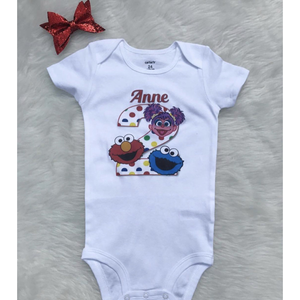 Sesame street Second Birthday Onesie/Sthirt
