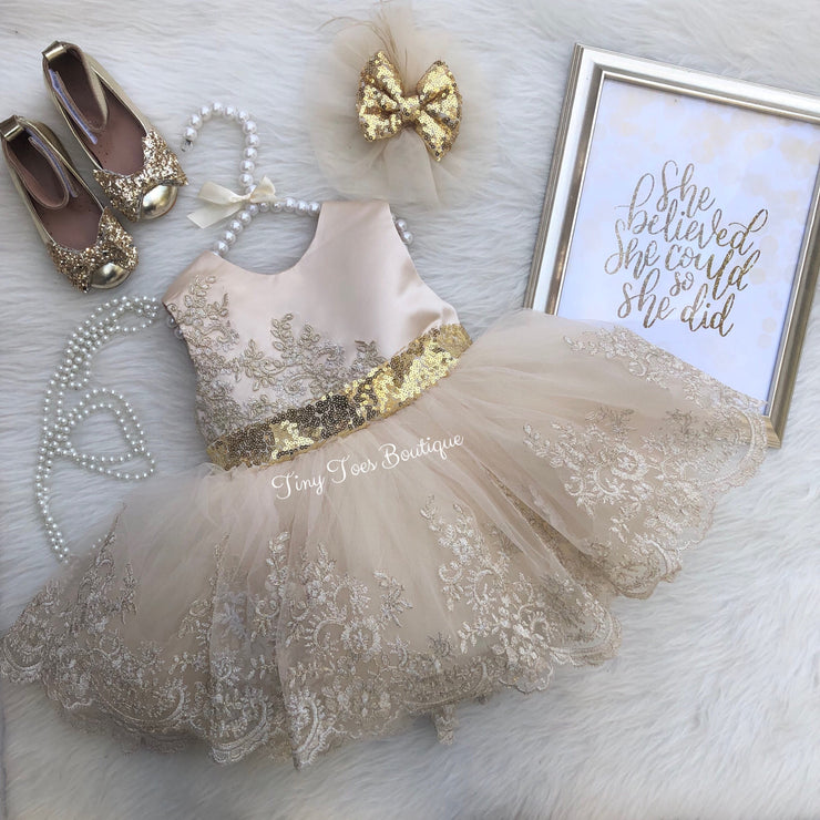 Alexis Dress (Champagne)