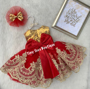 Sparkles Dress (red)