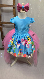 Baby shark Inspired Dress