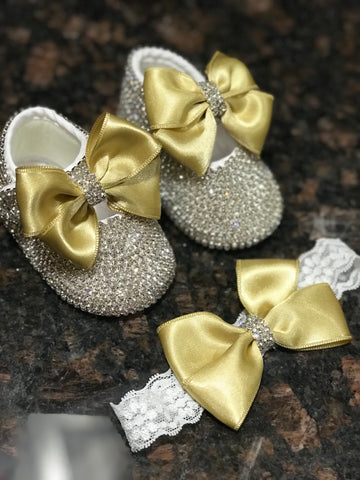 Golden Bling Shoe Set